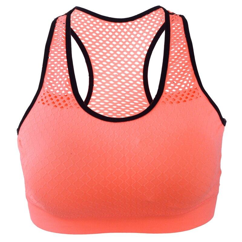 Sports Bra Women Wire Free Mesh Gym Bra Quick Dry Shockproof Yoga Running Vest Workout Sports Fitness Tops Gym Women Sportswewar