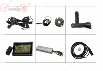 24/36V 48V 500W 750W Ebike Controller With Regenerative and Reverse Function LCD Display PAS Throttle image