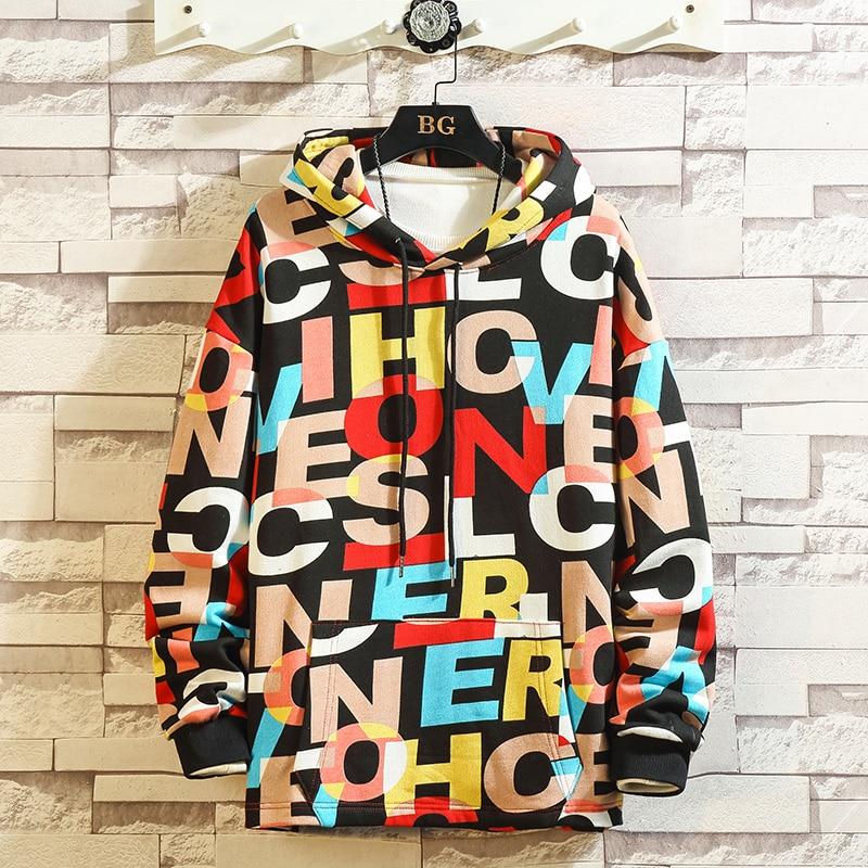 Print High Quality Fashion Hoodies And Sweatshirts 2019 Men Spring Autumn Clothes Plus Asian Size M-5XL