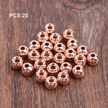 25pcs Tungsten Slotted Fly Tying Head Beads Nymph Ball Materials 2/2.4/2.8/3.3/3.8mm Hot Sale Dropshipping