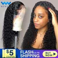 Frente do laço perucas de cabelo humano para as mulheres negras onda profunda encaracolado hd frontal bob peruca afro brasileiro curto longo 30 polegada peruca água cheia