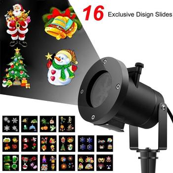 16 Patterns Christmas LED Projector Light New Year Laser Snowflake Projection Stage Light Waterproof Home Garden Lawn Lamp 16 patterns christmas led projector light new year laser snowflake projection stage light waterproof home garden lawn lamp