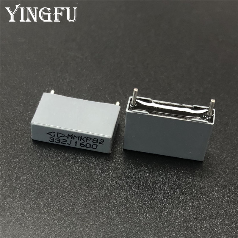 20pcs/Lot MMKP82 332J 1600V 3.3nF 5% Pin Pitch=15mm Double Sided Metalized Polypropylene Film Capacitor