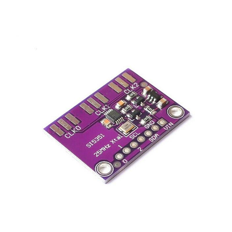 1 шт. Si5351A I2C 25 МГц генератор часов, модуль коммутационной платы 8 кГц до 160 МГц для Arduino