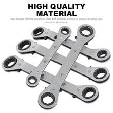 Chave de caixa de cotovelo de extremidade reta de economia de mão-de-obra de duas vias chave de alça de catraca 6-8mm 7-9mm 11-13mm 14-17mm
