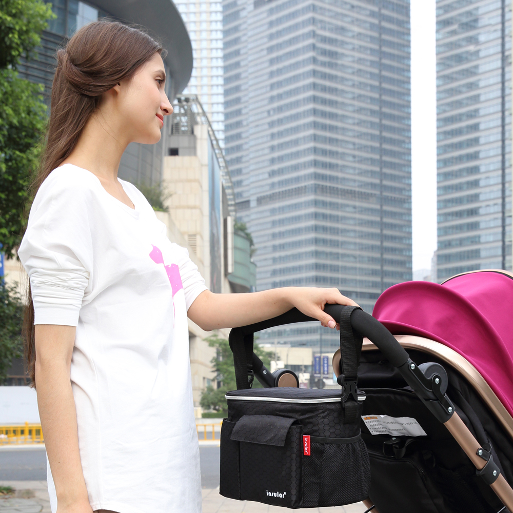 Bag Stroller-Accessories Hanging-Bags Baby-Carriage Portable Cup-Holder Mummy-Bag Multi-Function