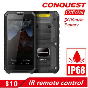 CONQUEST S10 IP68 Walkie Talkie Rugged Phone Add Strong Flashlight/Bar/QR Code/RFID/NFC and IoT Intelligent Handheld  Smartphone - DISCOUNT ITEM  38% OFF All Category