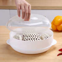 Practical Microwave Oven Special Steamer Eco-friendly PP Steamed Buns Steaming Utensils With Lid Durable Kitchen Tool 1/2 Layer