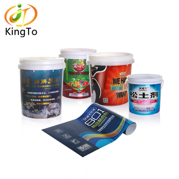 Hot sale pet iml in mould label for plastic container/bucket