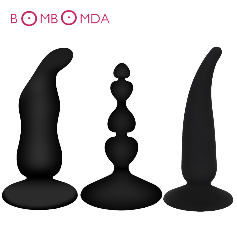 Silicone Anal <font><b>Plug</b></font> Adult <font><b>Sex</b></font> <font><b>Toys</b></font> For Men Prostate Massager G Stimulator For Women Masturbator Dildo <font><b>But</b></font> <font><b>Plug</b></font> Adults <font><b>Sex</b></font> Product image