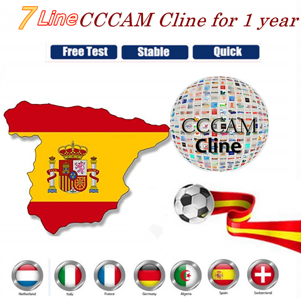 7/8 CCCAM CLine 1year Europe Cccams Lines Server With Panel