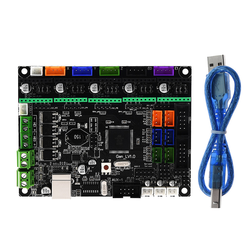 MKS Gen L V1.0 Integrated Control PCB Board Reprap Ramps 1.4 Support A4988/DRV8825/TMC2208/TMC2130 Driver For 3D Printer Parts