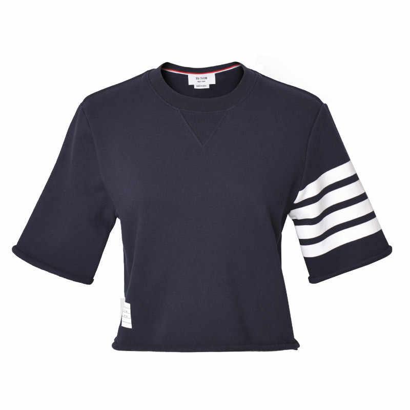 2020 Vrouwen O-hals Half Mouwen Korte T-shirts Met Krimpen Losse Stijl Zomer Causale Tees Vrouwen Mode Tops Dame
