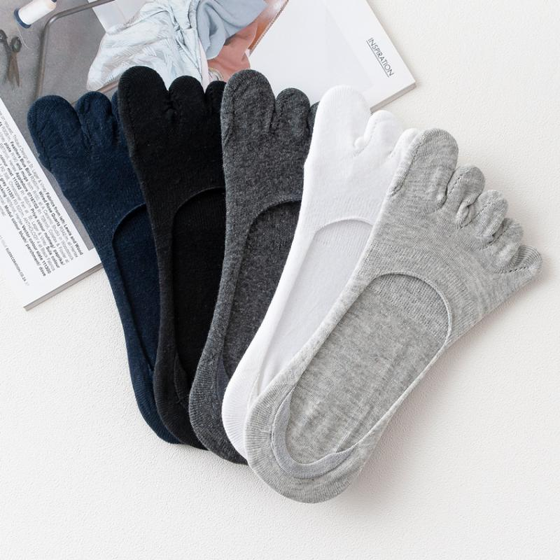 1Pairs Toe Five Finger Socks Mens Cotton Sport Socks Outdoor Cycling Running Sports Socks Breathable Low Cut Boat Non-slip Socks