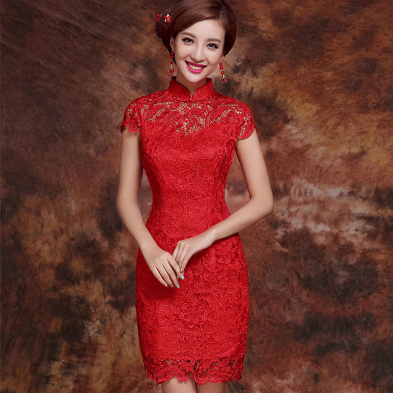 Women Dress Elegant Women Weeding Party Dresses Chinese Evening Sexy Dress Bodycon Lace Dresses Plus Size Vestidos Verano 2019-in Dresses from Women's Clothing