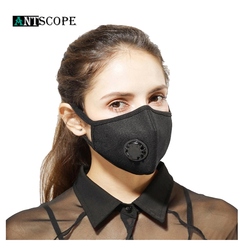 Antscope PM2.5 Anti Haze Respirator Breather Valve Mouth Face Mask Dust Activated Carbon Filter Respirator Protective Mouth Mask