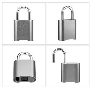 Image 5 - Smart Keyless Bluetooth Vingerafdruk Slot IP65 Waterdichte Cerradura Anti Diefstal Beveiliging Vingerafdruk Hangslot Deur Bagage Lock