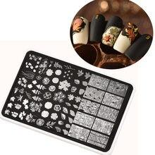 Plaques d'estampage pour ongles rectangulaires XXL, 15cm, en acier inoxydable, pochoirs, grande taille rectangulaire, 214