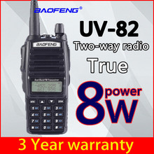 Baofeng True 8W UV-82 Plus UHF two-way radio Amador 8 watt transceiver / 10KM remote powerful walkie-talkie portable CB VHF