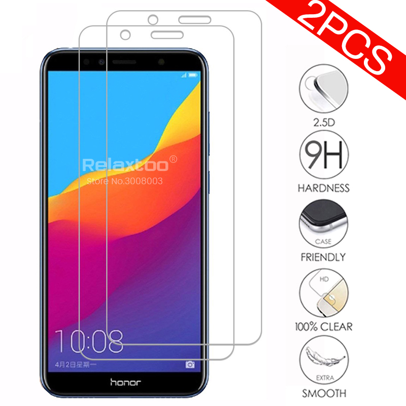 2Pcs Protevtive Glass On Honor 7a Screen Protector Safty Glasses For Honor 7a Pro 7c 7 A C Prime Aum-l29 Dua-l22 Protection Film