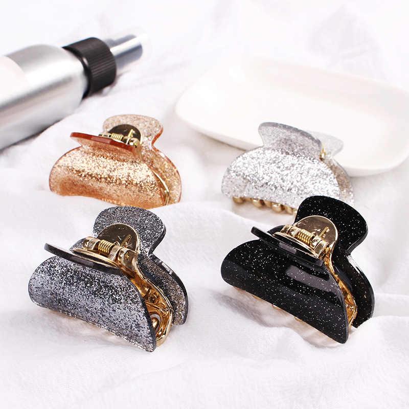 ファッションアクリルヘアピンヘア爪クリップの女性固体 BB クリップ電源用ポニーテール小さなカニためハールヘアアクセサリー