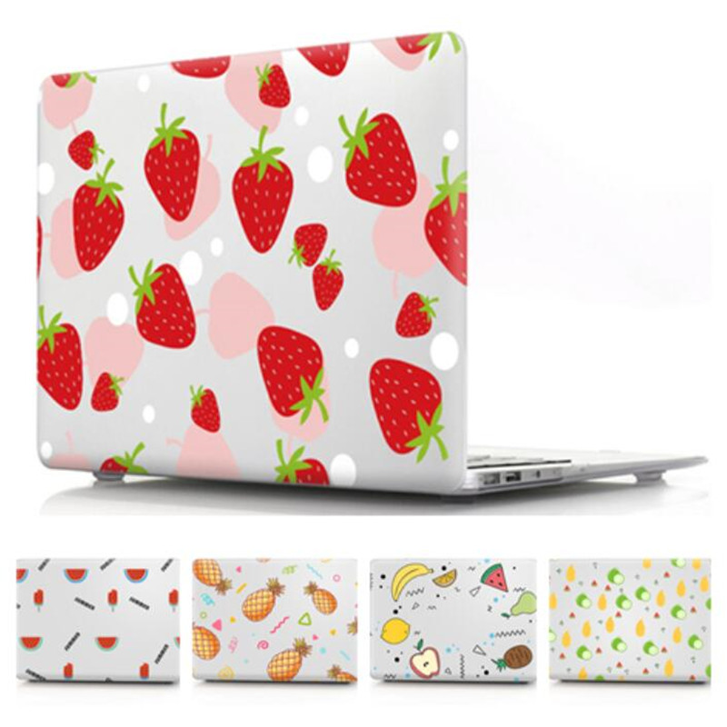 Laptop Case For Macbook Air Pro Retina 11 12 13 15 Clear Transparent Fruit Cover For Apple Mac Book 13 15 Inch A1466 A1932 A1708