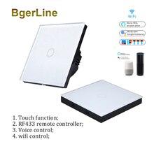 1 gang wi fi настенный светильник переключатель rf433 433 МГц
