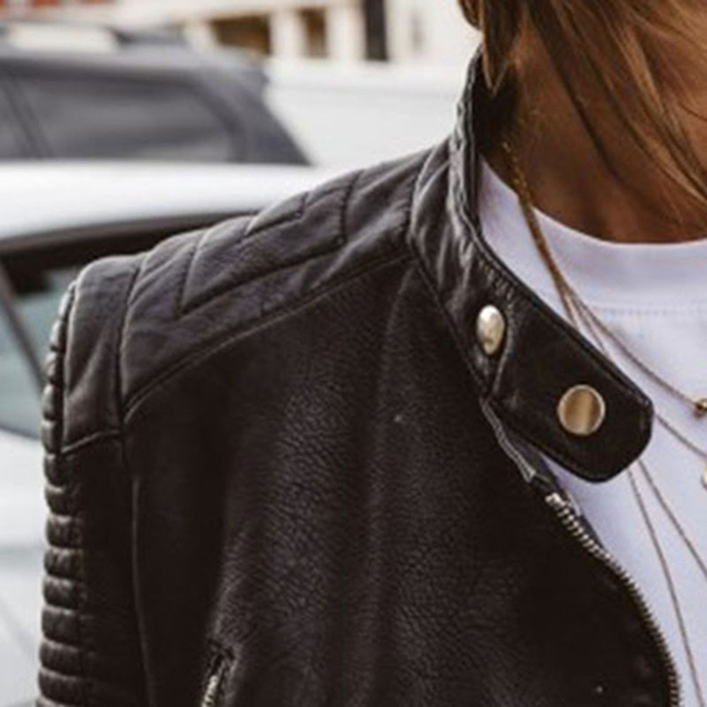 Cute Leather Biker Jacket 5