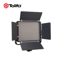 Tolifo Photography LED Video Light Panel with U Bracket & Barndoor with Remote Control for Photo Studio Portrait YouTube Video