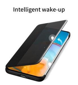 Image 2 - Original Huawei HUAWEI P40/P40 Pro/P40 Pro+ P40 Pro Plus Smart View Cover Leather Protection Auto Sleep Wake Flip case