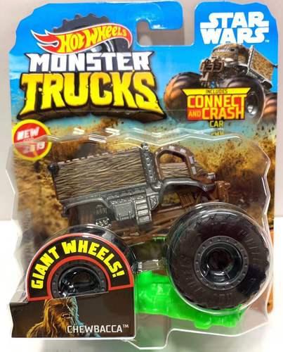1: 64 оригинальные горячие колеса гигантские колеса Crazy Barbarism Монстр металлическая модель грузовика игрушки Hotwheels большая ножная машина детский подарок на день рождения - Цвет: GGT47 CHEWBACCA