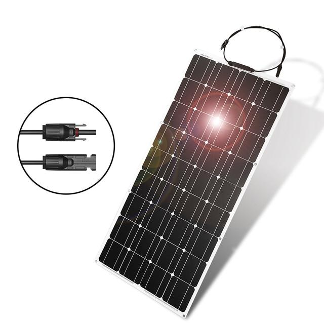 Dokio 12V 100W Monocrystalline Flexible Solar Panel For Car/Boat High Quality Flexible Panel Solar 100w China 2