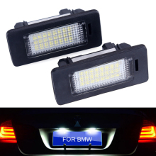 2pcs License Plate Light LED Number License Plate Lights 6000K 3W 12V 0.3A For BMW E39 E70 E71 X5 X6 E60 M5 E90 E92 E93 M3 error free led license plate light for bmw e82 e88 e90 e92 e39 e60 e61 m5 sedan e70 x5 e71 e72 x6 5 series