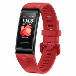 Image 3 - מקורי Huawei להקת 4 פרו GPS חכם להקת מתכת מסגרת צבע מסך מגע דם חמצן לשחות קצב לב חיישן שינה צמיד