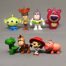 8pcs/lot 3-5cm  Buzz Lightyear Woody Action Figures Toys Brinquedo Model Toy Christmas Gifts For Kids B611