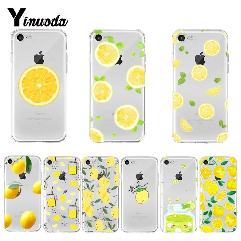 Yinuoda Lemon Fruit DIY Painted Beautiful Phone Accessories case for iPhone 8 7 6 6S Plus X XS max 10 5 5S SE XR Coque Shell