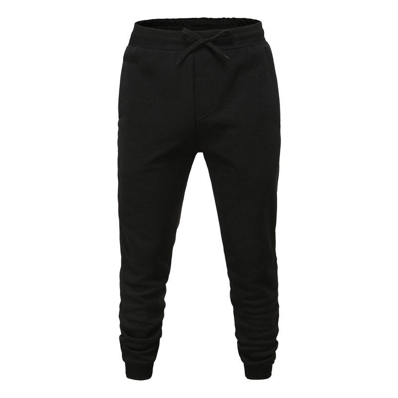 2019  Men's  Cotton Pants Male Bound Feet Motion Leisure Trousers Active Elastic Hip Hop Slim Joggers Sweatpants Size M-3XL XWEI