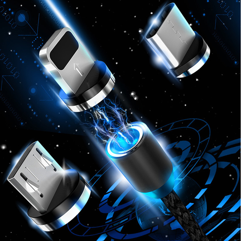 Magnetic Micro USB Cable Plug For IPhone Samsung Android Fast Charging Magnet Charger USB Type C Cable Mobile Phone Cord Wire