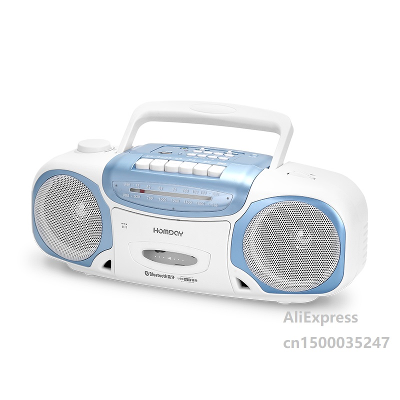 Radio Tape Recorder U Disk SD Card Playback With Bluetooth Stereo Speaker