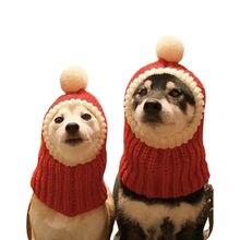 Забавный милый костюм для кошек красная шляпа Рождественская