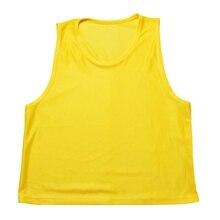 Детский многоцветный футбольный жилет без рукавов дышащая тренировочная футбольная безрукавка удобные командные рубашки