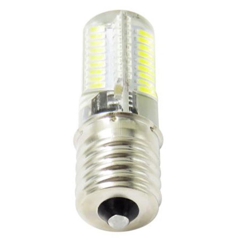 Dimming <font><b>LED</b></font> Corn <font><b>Bulb</b></font> Mini Silicone lamp 72 <font><b>Leds</b></font> SMD 4014 <font><b>E17</b></font> 220V 200V-240V Replace halogen lamp Light Pure(Cold) White image