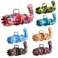 Камуфляжная пузырчатая машина для детей, электрический пистолет для мыльных пузырей, игрушка, автоматический вентилятор для пузырей, детск...