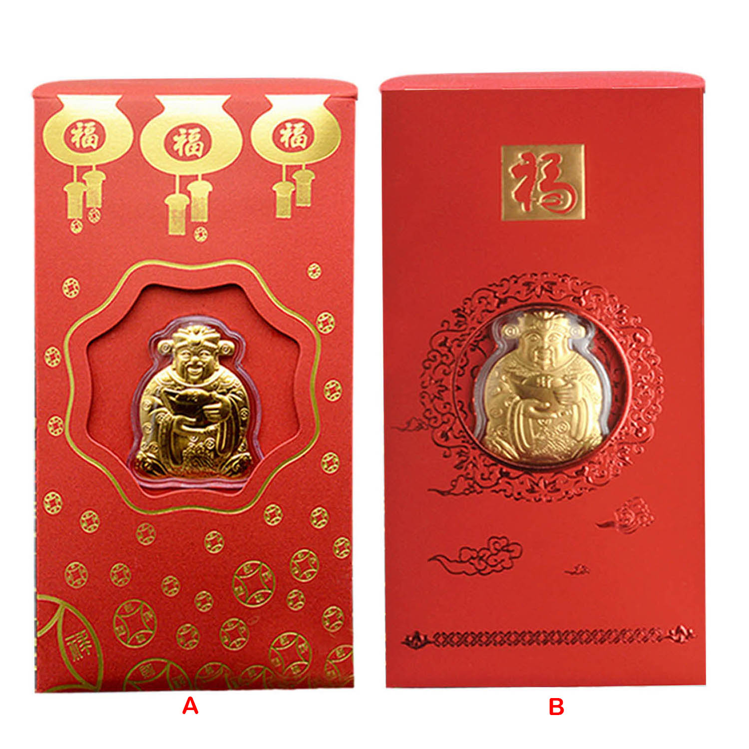 2020 Chinese Red Envelope Hong Bao Pocket Money Packet With Rat Commemorative Coin Of Wealth For 2020 New Year Spring Festival