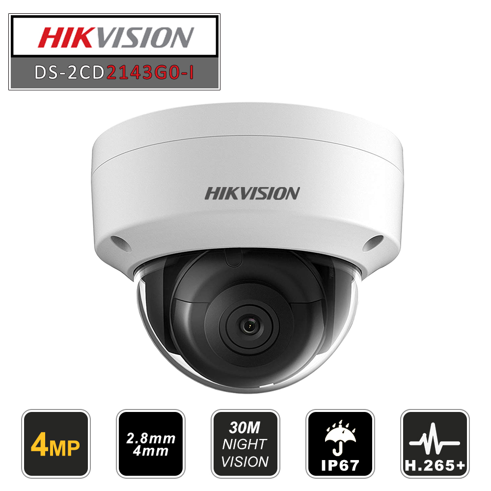 Hikvision Original Dome IR Fixed Network Security Night Version  CCTV IP Camera DS-2CD2143G0-I  IP67 4MP CMOS With SD Card Slot