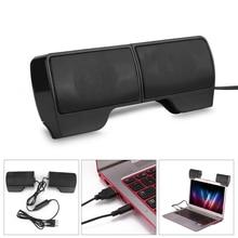Altavoz de barra de sonido portátil 4.8ft alimentado por USB dos 3D sonido de alta fidelidad estéreo para portátil notebook para MP3 MP4 MP5 Teléfono para PS