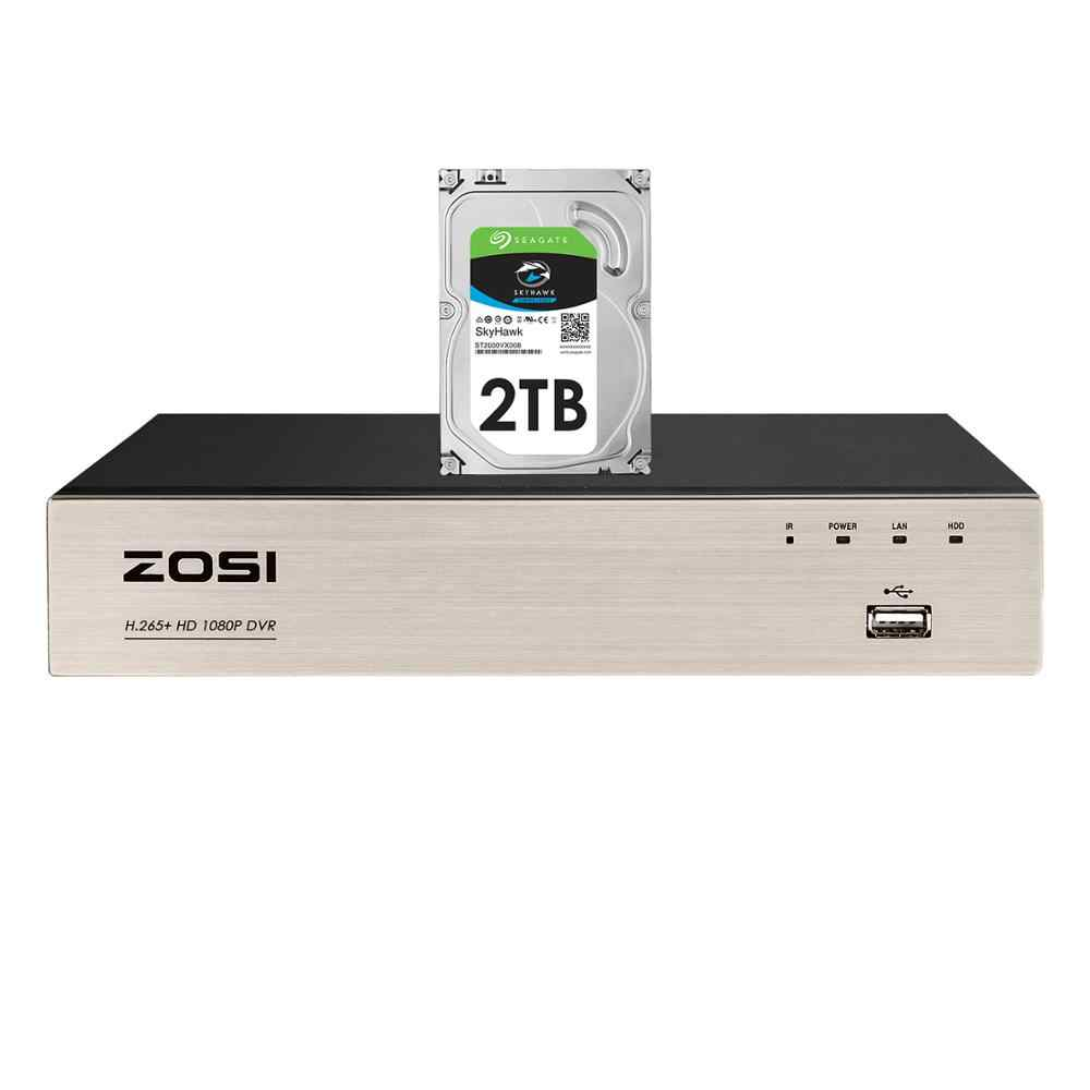 Zosi H.265 + 4 In 1 Cctv Dvr 8CH Security Tvi Dvr 1080P Digitale Video Recorder Hdmi Video-uitgang ondersteuning Iphone Android Telefoon