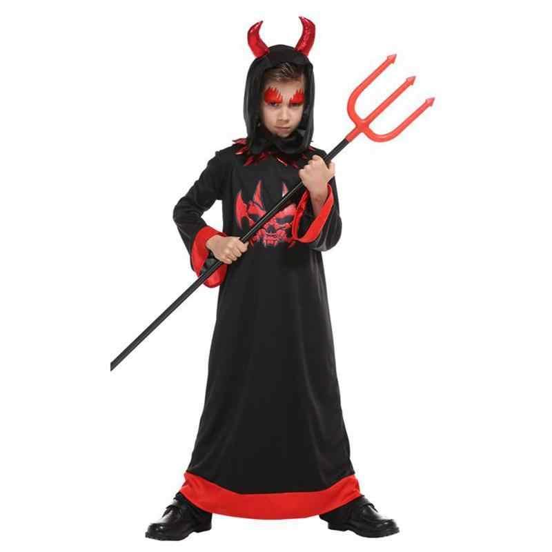 Filles Diable Déguisement Pour Enfant Halloween Satan Costume Robe Fantaisie