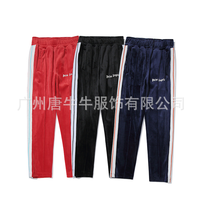 Palm Autumn And Winter New Style Casual Trousers Embroidered Letters Sweatpants Men And Women Celebrity Style