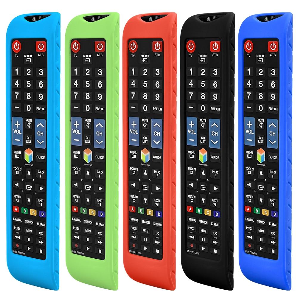 1pc silicone capa protetora para samsung smart tv remoto BN59-01178W AA59-00652A AA59-00594A RM-D1078 à prova de choque caso remoto